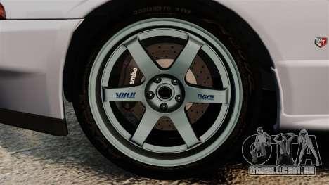 Nissan Skyline GT-R (R32) para GTA 4 vista de volta