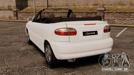 Daewoo Lanos 1997 Cabriolet Concept para GTA 4 traseira esquerda vista
