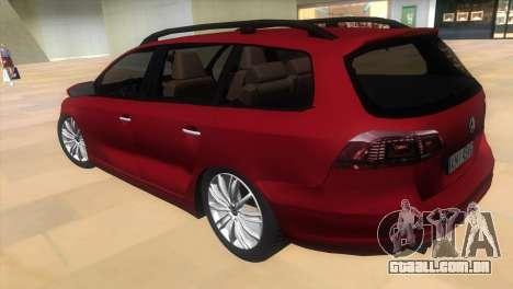 Volkswagen Passat B7 2012 para GTA Vice City deixou vista