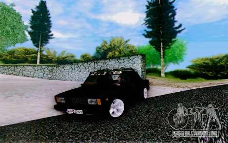 VAZ 2107 Riva para GTA San Andreas vista direita