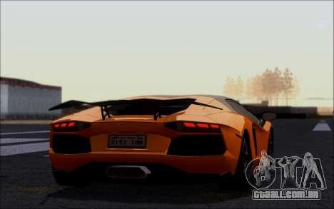 Lamborghini Aventador LP760-2 EU Plate para GTA San Andreas esquerda vista