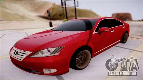 Lexus ES350 2010 para GTA San Andreas esquerda vista