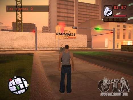 Novo menu e uma nova fonte para GTA San Andreas décima primeira imagem de tela