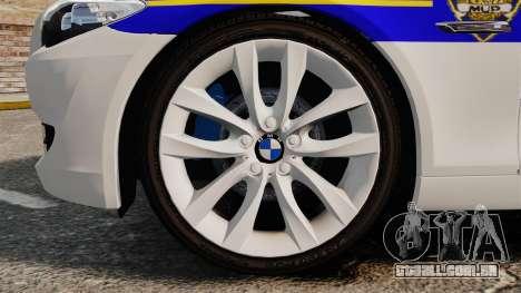 BMW M5 Touring Croatian Police [ELS] para GTA 4 vista de volta