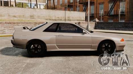 Nissan Skyline GT-R (R32) para GTA 4 esquerda vista