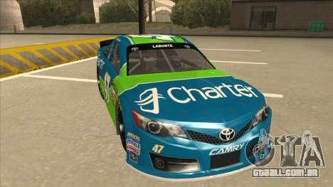 Toyota Camry NASCAR No. 47 Charter para GTA San Andreas esquerda vista