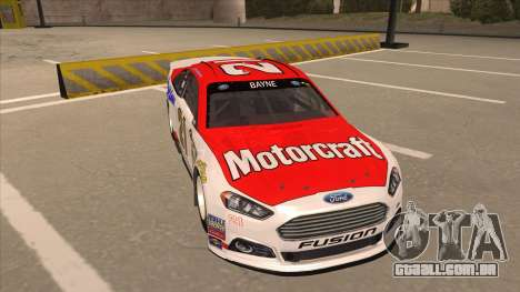 Ford Fusion NASCAR No. 21 Motorcraft Quick Lane para GTA San Andreas esquerda vista