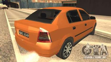 Opel Astra 1.6 TDi SEDAN para GTA San Andreas esquerda vista