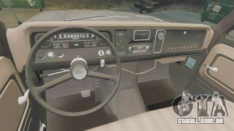 Chevrolet C-10 Stepside v1 para GTA 4 vista interior