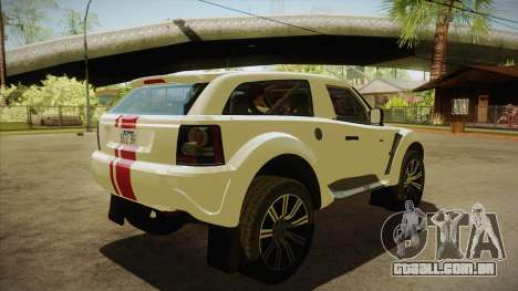 Bowler EXR S 2012 HQLM para GTA San Andreas vista direita