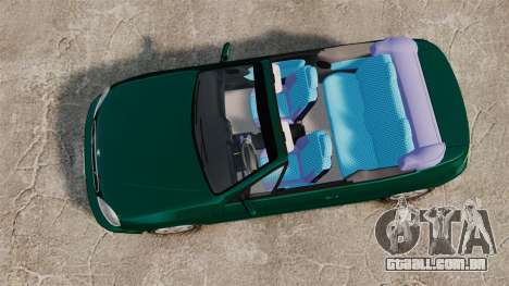 Daewoo Lanos 1997 Cabriolet Concept v2 para GTA 4 vista direita