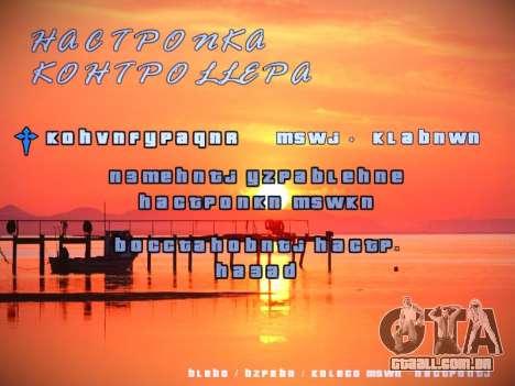 Novo menu para GTA San Andreas sexta tela