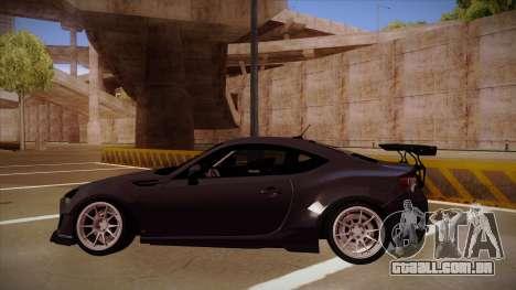 Subaru BRZ Rocket Bunny para GTA San Andreas traseira esquerda vista