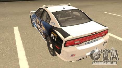 Dodge Charger Detroit Police 2013 para GTA San Andreas vista traseira