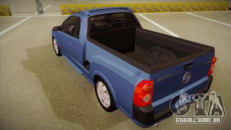 Chevrolet Montana Sport 2008 para GTA San Andreas vista traseira