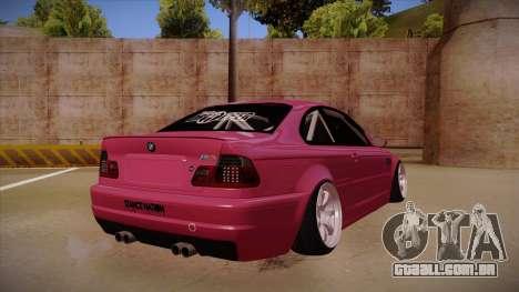 BMW M3 E46 Stance para GTA San Andreas vista direita