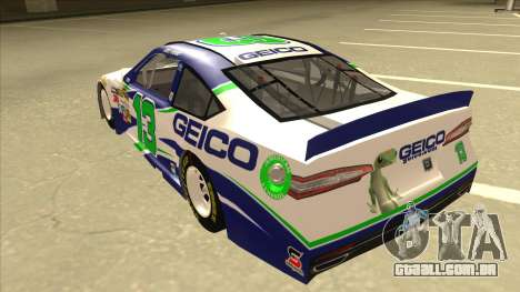 Ford Fusion NASCAR No. 13 GEICO para GTA San Andreas vista traseira