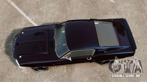 Shelby GT500 para GTA 4 vista direita