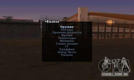 Enganar a versão inglesa do Menu para GTA San Andreas