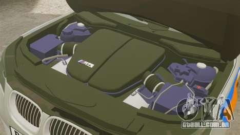 BMW M5 E60 Metropolitan Police 2006 ARV [ELS] para GTA 4 vista interior