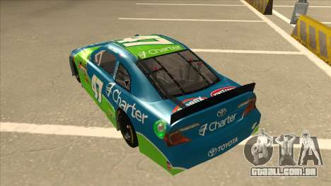 Toyota Camry NASCAR No. 47 Charter para GTA San Andreas vista traseira