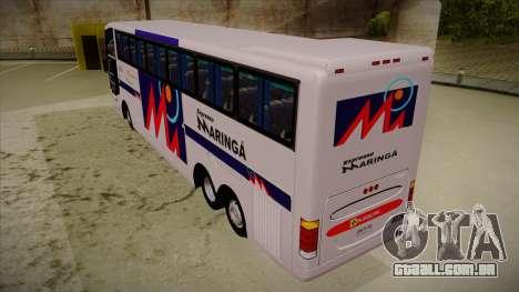 Busscar Jum Buss 400 P Volvo para GTA San Andreas vista traseira