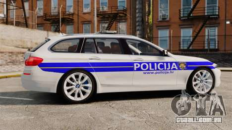 BMW M5 Touring Croatian Police [ELS] para GTA 4 esquerda vista