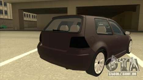VW Golf 4 Tuned para GTA San Andreas vista direita