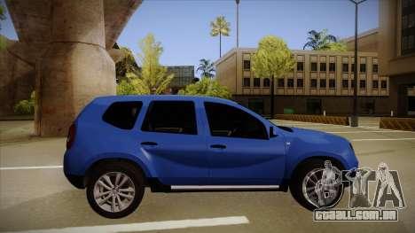 Dacia Duster SUV 4x4 para GTA San Andreas traseira esquerda vista