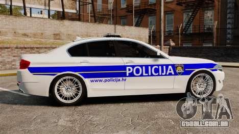 BMW M5 Croatian Police [ELS] para GTA 4 esquerda vista
