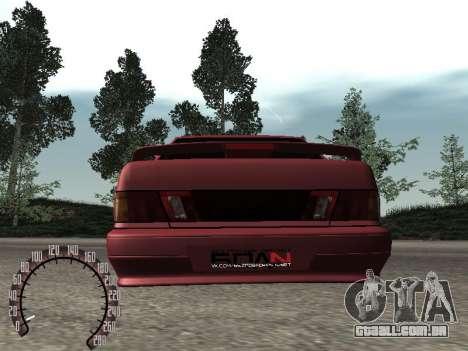 BPAN VAZ 2115 para GTA San Andreas vista traseira