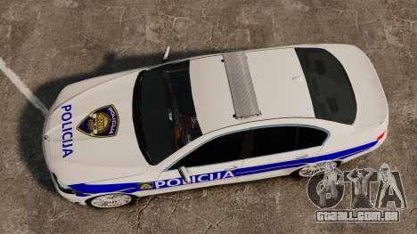 BMW M5 Croatian Police [ELS] para GTA 4 vista direita