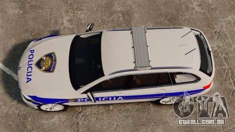 BMW M5 Touring Croatian Police [ELS] para GTA 4 vista direita
