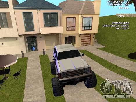 Rancher Monster para GTA San Andreas vista interior