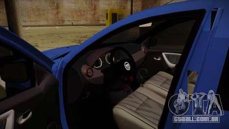 Dacia Duster SUV 4x4 para GTA San Andreas vista interior