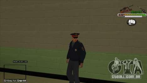 Polícia de San Angeles Pak peles para GTA San Andreas por diante tela