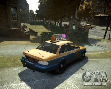 GTA V Taxi para GTA 4 esquerda vista