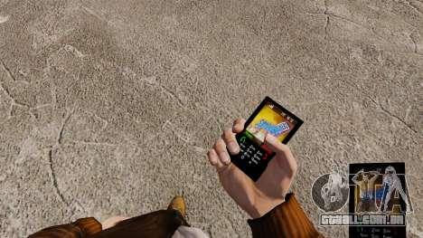 Temas para barras de chocolate de telefone para GTA 4 terceira tela