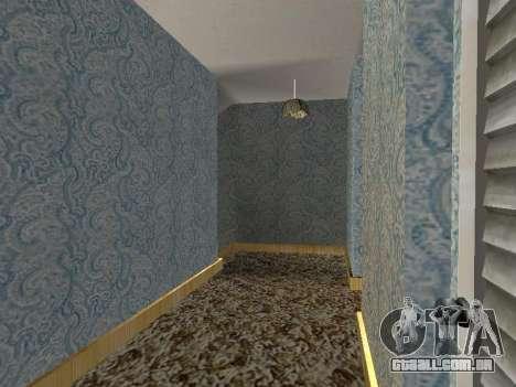 Novo edifício de 2 andares interior CJ para GTA San Andreas décimo tela