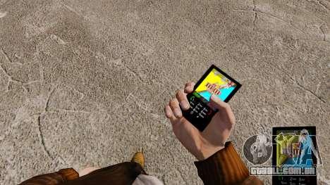 Temas para barras de chocolate de telefone para GTA 4 segundo screenshot