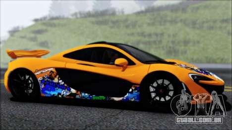 McLaren P1 2014 para GTA San Andreas interior