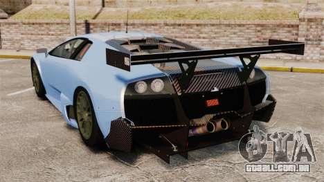 Lamborghini Murcielago RSV FIA GT1 v3.0 para GTA 4 traseira esquerda vista