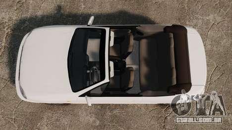 Daewoo Lanos 1997 Cabriolet Concept para GTA 4 vista direita