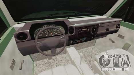 Toyota Land Cruiser 76 2005 para GTA 4 vista de volta