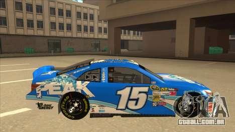 Toyota Camry NASCAR No. 15 Peak para GTA San Andreas traseira esquerda vista