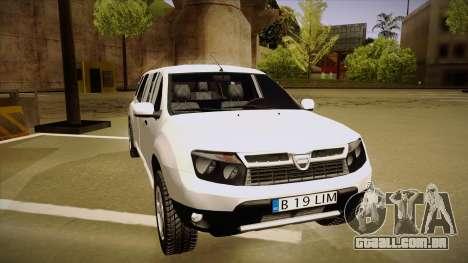 Dacia Duster Limuzina para GTA San Andreas esquerda vista