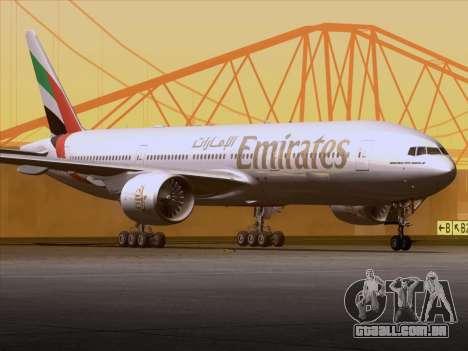 Boeing 777-21HLR Emirates para GTA San Andreas vista interior