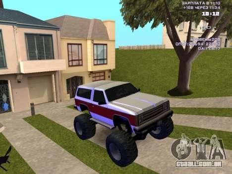 Rancher Monster para GTA San Andreas vista traseira