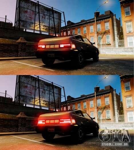 BLista nova luzes de marcha atrás para GTA 4 traseira esquerda vista