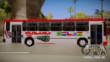 Busscar Urbanus SS Volvo B10 M Busmania para GTA San Andreas traseira esquerda vista